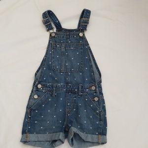 Gap Kids Girls short overalls, size small